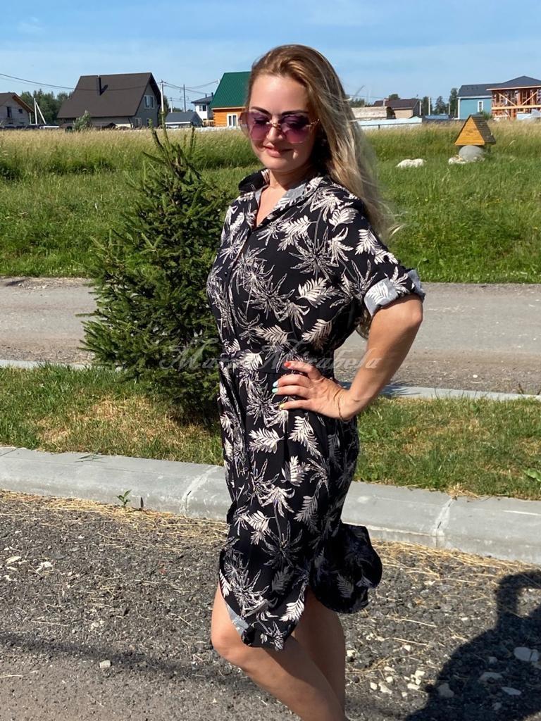 Рубашка-Платье Пальмы